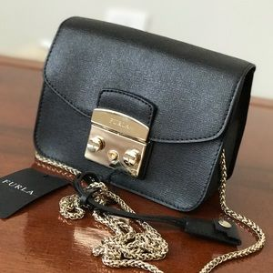 Furla  Mini Black Julia Cross body Bag